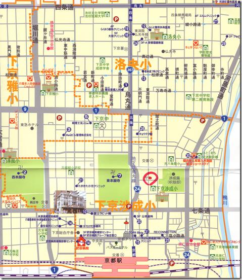 正面ビル地図